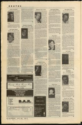 Obituries in the Bay Area Reporter 5th July 1990 1