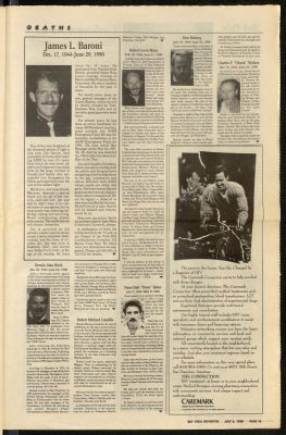 Obituries in the Bay Area Reporter 5th July 1990 2
